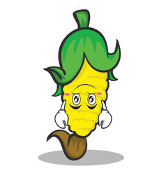 upside down face sweet corn character cartoon vector image vector image