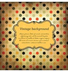 vintage card design with dot pattern vector image vector image