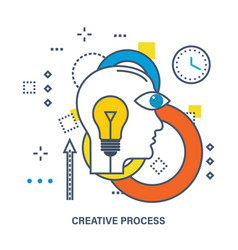concept of creative process vector image vector image
