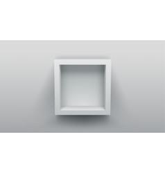 empty box shelf vector image