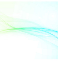 modern abstract swoosh smooth wave composition vector image vector image