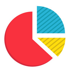 pie chart flat icon business and diagram vector image