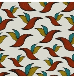 Seamless pattern with abstract birds vector image vector image