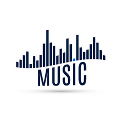 abstract sound icon music wave equalizer for vector image