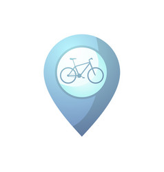 Blue bike point vector