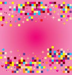 fun pixel squares background design elements vector image vector image