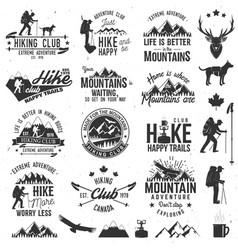 hiking club badge vector image vector image