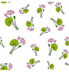 seamless pattern with lotus vector image vector image