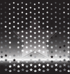 star silver halftone abstract background vector image vector image