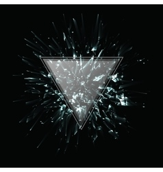 Abstract black and white explosion vector