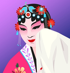 Chinese opera vector image vector image