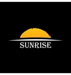Icon sun over horizon vector