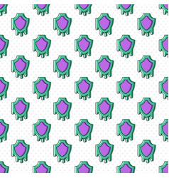 melting shield seamless pattern vector image vector image