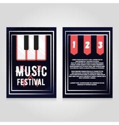 Music festival brochure flier design template vector image vector image