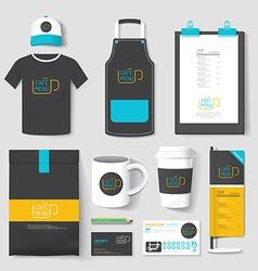 Set of restaurant and coffee shop uniform corporat vector image