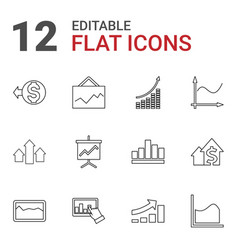 12 increase icons vector image