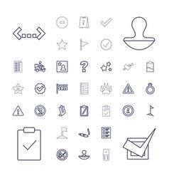 37 mark icons vector