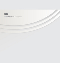 Abstract background white and gray with curve vector