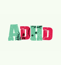 adhd concept stamped word art vector image