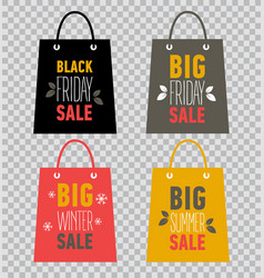 advertising shopping bags big winter sale vector image