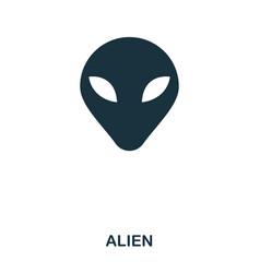 alien icon flat style icon design ui vector image