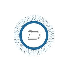 Archive catalog directory files folder line icon vector