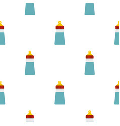 Baby milk bottle pattern flat vector