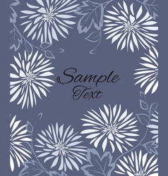 Background of white flowers and leaves vector