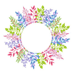 Big wreath of wild aromatic herbs small branches vector