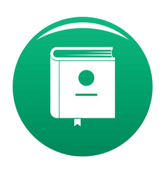 book encyclopedia icon green vector image