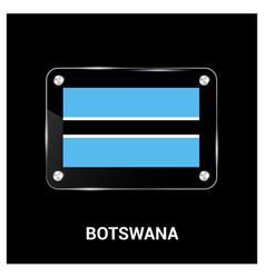 botswana flag design vector image