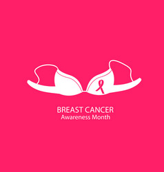 Brassiere women underwear national breast cancer vector