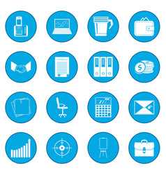 business and office work icon blue vector image