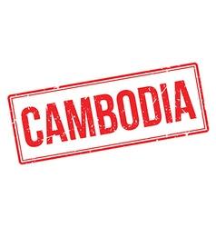 Cambodia rubber stamp vector