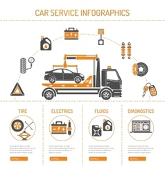 Car Service Infographics vector