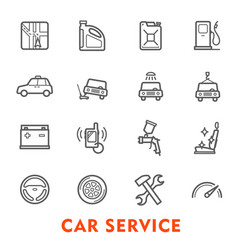 car service thin line icon for auto repair station vector image