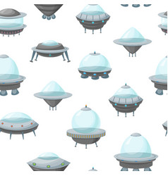 cartoon alien spaceship or ufo ship seamless vector image