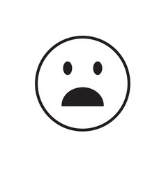 cartoon face shocked people emotion icon vector image