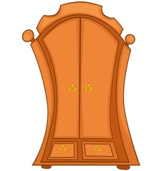 cartoon home furniture wardrobe vector image