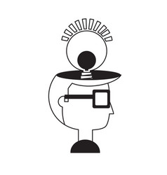 cartoon man head icon vector image