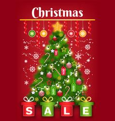 christmas sale winter holiday postcard vector image
