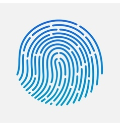 Circle touch fingerprint id app vector image