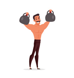 Circus athlete flat isolated vector