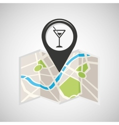 cocktail drink map pin pointer design vector image