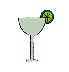 cocktail glass cup drink beverage fresh vector image