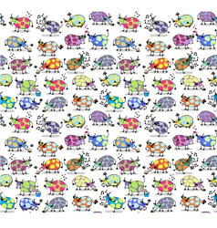 Cows Seamless background vector