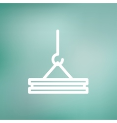 Crane thin line icon vector image