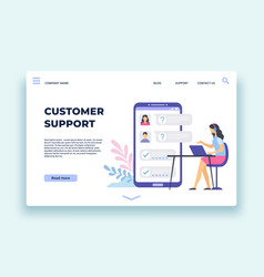 customer support personal assistant technical vector image