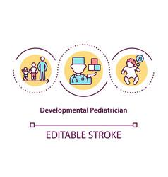 Developmental pediatrician concept icon vector