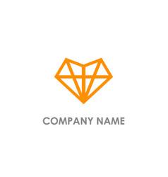 diamond triangle line logo vector image